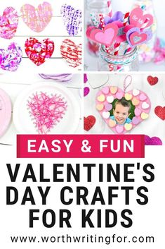 I love these Valentines Day crafts for kids! If you need fun Valentine activities for kids to make at home or at a Valentines Day party these holiday kids crafts are exactly what you need! The perfect Valentines Day craft ideas for heart filled fun! Fun Activities For Toddlers, Rainy Day Activities, Valentines Day Activities, Valentines Day Party, Valentine Day Crafts, Printable Valentine, Homemade Valentines, Baby Activities, Valentine Box