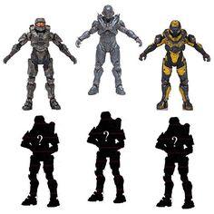"6 x SERIES 1 Halo 5 Guardians McFarlane 6"" Action Figures"