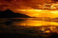 Sunset on Clew Bay in Ireland