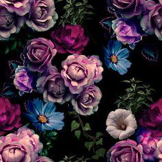 Midnight Garden #newonpatternbank. Pattern design by Shock Rider Creative Studio