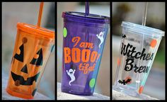 Halloween Acrylic Tumblers BPA free by perfectpairparties1 on Etsy