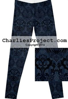 96c6c0ad36f844 Midnight Blue Paisley - Final Sale. No Returns. - Charlies Project -  Leggings for a Cause