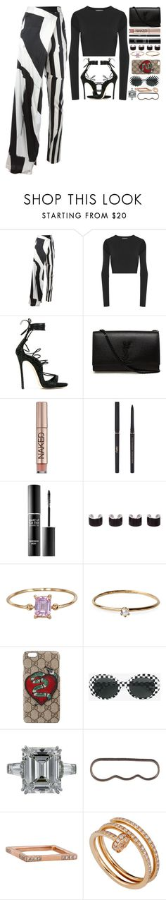 """""""🎱"""" by iriskatarina ❤ liked on Polyvore featuring Ann Demeulemeester, Opening Ceremony, Dsquared2, Yves Saint Laurent, Urban Decay, MAKE UP FOR EVER, Maison Margiela, Satomi Kawakita, Gucci and AS29"""