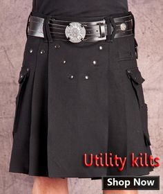 Buy contemporary modern kilt, utility kilts, tartan kilts and other kilt jackets and accessories in custom size details.