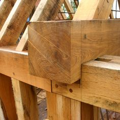 true timber frame homes used joinery with no nails - from Carpenters Medieval Houses