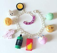 Lush themed halloween charm bracelet handmade by ArtsnCandies