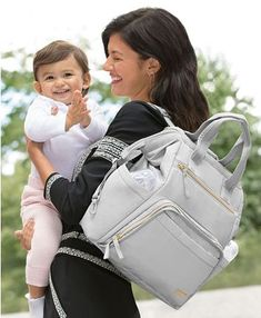 Skip Hop Mainframe Wide Open Diaper Backpack & Reviews - All Kids' Accessories - Kids - Macy's Large Diaper Bags, Baby Diaper Bags, Baby Bags, Diaper Bag Backpack, Backpack Straps, Backpack Reviews, Changing Bag, Backpack Online, Cement