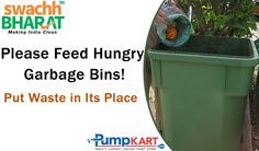 Hungry garbage bins is an easy and simple way to eliminate organic waste. Please contribute to keep our country clean and follow #Swachh #Bharat #Abhiyan