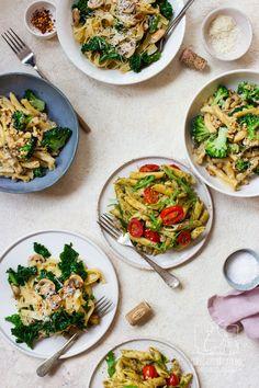 3 makarony, które zrobisz w 15 minut. Przepisy na Światowy Dzień Makaronu! Vegan, Fried Rice, Curry, Food And Drink, Healthy Recipes, Dinner, Ethnic Recipes, Kitchen, Food Ideas