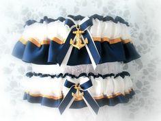 Military U.S. Navy Wedding Garter Set - Dress Blues Garters. – Creative Garters