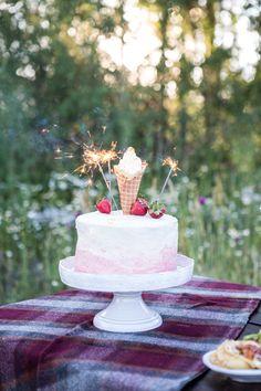 Rio Summer Games Potluck Party (Cupcakes and Cashmere) Strawberry Vanilla Cake, Strawberry Buttercream, Vanilla Buttercream, Rum Swizzle Recipe, Summer Potluck, Dessert Decoration, Decorations, Summer Games, Cupcake Party