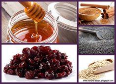 Sour cherry-poppy seed porridge with honey&cinnamon