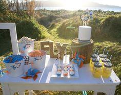 Beach birthday party table #beach #party
