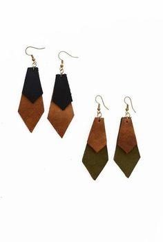 Fair Trade Leather Earrings