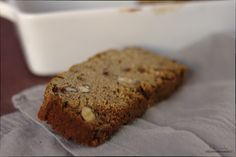 Gluten Free Banana Bread, with date puree and hazelnuts