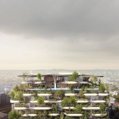 The mixed-use high rise building owned by developers Aria Property Group will include 392 homes, a two-level rooftop garden and a public park at ground level. Vertical Planting, Vertical Gardens, Brisbane Architecture, Building Architecture, Redwood Forest California, Green Apartment, Plant Covers, Forest Pictures, Sky Garden