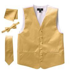 Men's Steven Land Solid 4-pc. Vest Set, Size: Medium, Brown Oth