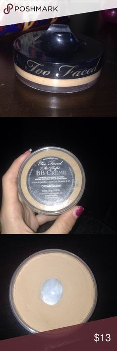 Too Faced BB Creme Too Faced BB Creme in the color cream glow. Used but still 75-80% left :) Too Faced Makeup Foundation