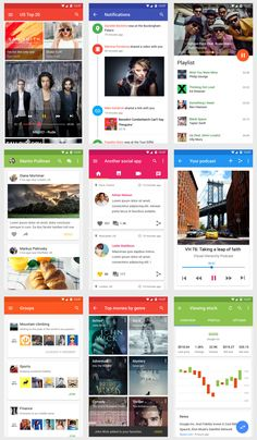 Vonn Mobile Material Design UI Kit | Visual Hierarchy