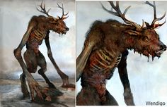 Wendigo is a monster that takes different forms, according to the locality in which these legends are collected.