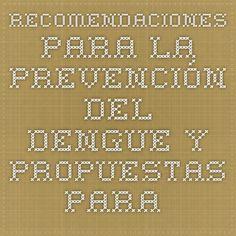 recomendaciones para la prevencin del dengue y propuestas para el aula