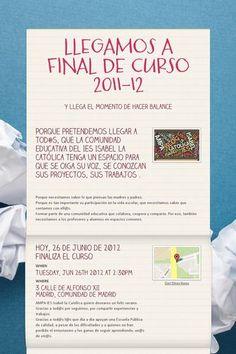 LLEGAMOS A FINAL DE CURSO 2011-12