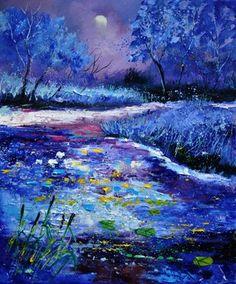 "Saatchi Art Artist Pol Ledent; Painting, ""Pond 563111"" #art"