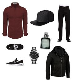 """""""perform"""" by geishauno on Polyvore featuring Dockers, NIKE, Calvin Klein, FOSSIL, Gents, men's fashion and menswear"""