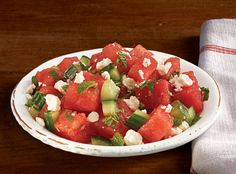Click to the story to get the recipe for a refreshing summer watermelon salad with feta cheese!