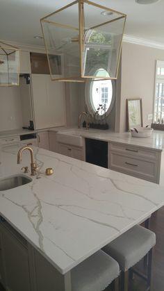 Quartz Counter Tops Polarstone Calcatta Quartzite Countertops Concrete Cleaning Granite Counters Kitchen