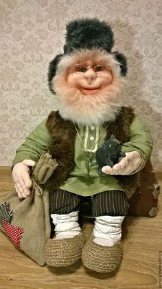 Купить домовой - оливковый, домовой, оберег для дома, обереги в подарок, интерьерная кукла, русский стиль