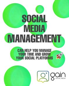Social Media Management can help you manage your time and grow your social platforms Social Platform, Platforms, Management, Social Media, Social Networks, Social Media Tips