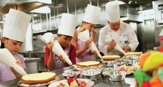 Cooking classes for kids at sea