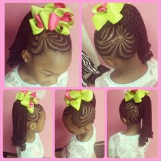 Cute Kids Braids http://www.shorthaircutsforblackwomen.com/african-hair-braiding/