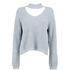 Boohoo Petite Lou Choker Strap V Neck Jumper | Boohoo (140 ILS) ❤ liked on Polyvore featuring tops, sweaters, blue v neck sweater, v neck tops, jumper top, jumpers sweaters and petite sweaters