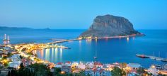 List of private tours to Monemvasia, Greece. Travel agency offer custom private car tours to see Monemvasia in Greece. Discover Monemvasia with private car tour from Monterrasol. Order custom car tour to Monemvasia at the date you want. Beautiful Islands, Beautiful Places, Amazing Places, Monemvasia Greece, Greek Town, Costa, Yacht Cruises, Medieval Town, Medieval Fortress