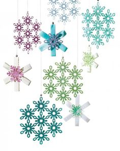 Eric Pike's Glittered Snowflake Ornaments   Step-by-Step   DIY Craft How To's and Instructions  Martha Stewart
