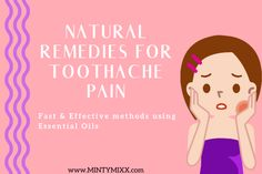 How to Relieve Toothache Pain FAST Using Essential Oils - MintyMixx Essential Oils Tooth Ache, Essential Oils For Inflammation, Young Essential Oils, Clove Essential Oil, Essential Oils Guide, Essential Oil Uses, Cracked Tooth, Remedies For Tooth Ache