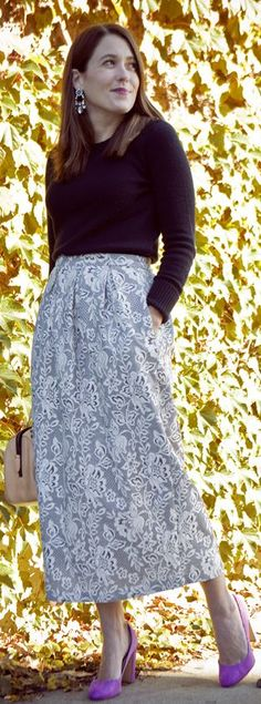 The #midi #skirt