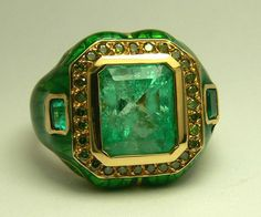 8.20tcw Impeccable Colombian Emerald Green by JRColombianEmeralds, $9624.00