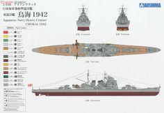 Japanese Navy Heavy Cruiser `Chokai` 1942 Retake (Plastic model) Color1