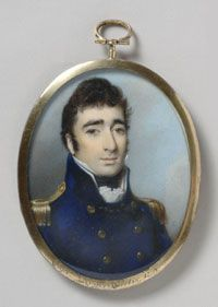 Portrait of Captain Roger Curtis, R.N.  1811 George Engleheart, British,1752 - 1829    Watercolor on ivory