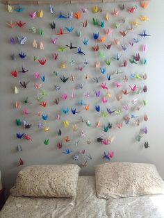 Crane Curtain Headboard College LifeWedding DecorationCurtain Headboards Origami