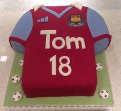 West Ham football shirt 18th birthday cake made for my son.