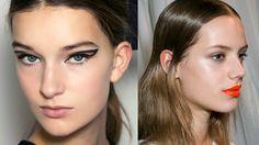 Summer 2014 make-up trends_Winged eyeliner_Orange lips