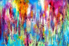 FineArtSeen - The Emotional Creation #47 by Carla Sa Fernandes. This original abstract painting is full of colour and comes from the collection on FineArtSeen. Click to view more art at great prices from the Home Of Original Art. << Pin For Later >>
