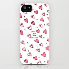 With All My Heart iPhone Case by Ornaart | Society6