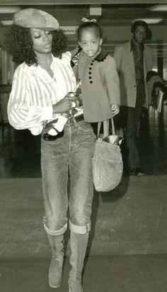 Diana Ross with her daughter Rhonda