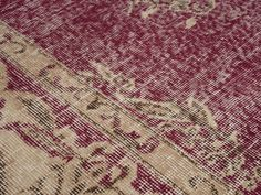 Sarbay - Red & Brown Turkish Vintage Area Rug (6x11)