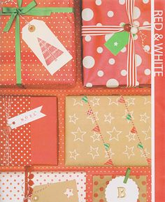 Red and white gift wrap.
